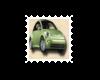 ~Oo Green VW Bug Stamp