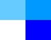 confetti - white blue