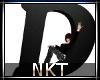 Letter D Black with pose