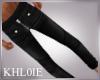 K black leather skinnys
