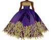 Purple Feather Gown