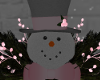 Snowman Cristmas Pinke