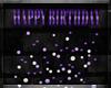 Purple Bday Hanging Sign
