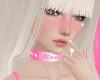 Pink PVC Sissy Collar