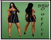 BBW Black  Rainbow Dress