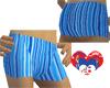 BLUE RETRO SHORTS