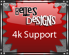 {B} 4k Support Sticker