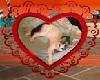 quadro cuore kitty
