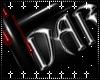 {D} DARK Cross Sticker