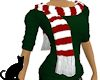 Red/white scarf Green T