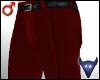 Red suit pants (m)