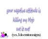 your attitude sign neon
