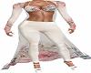 White Pants Floral Top
