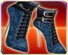 Blue Lace Boots