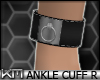 +KM+ PVC AnkleCuff R Blk