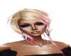 Blonde Pony w/Pink tips