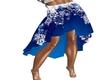 Snowflake Blue Skirt
