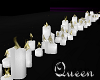(MQ)*White Candles /Row*