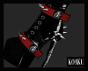 Goth Baby Boots   Red