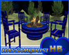 [HB]TABLE PATIO BLUE F