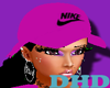 DHD PURPLE NIKE HAT&HAIR