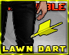 ~R Lawn Dart in Knee