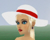 ~Z~ White Hat w/Red Band