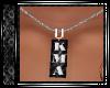 KMA Necklace Blk & Silve