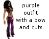 purple outfit with a bow