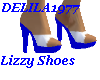 Lizzy shoes-Blue/white