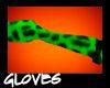 Green Leopard Gloves