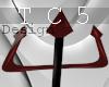 Devilish trident red