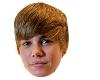 Justin Bieber mask