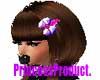 PH~Purple Hair Bow Clip