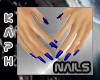 Small Hands D Blue nails