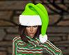Light Green Santa Hat F