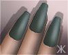 K| Green Matte .Nails