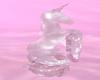 Crystal Unicorn Statue