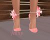 pink,peach flower shoes