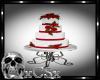 CS Red & White Wed Cake