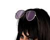 Raised Sunglasses Purple