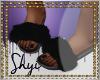 $ Black Fur Slides