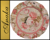Antique Pink Roses Plate