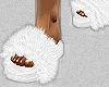 white fuzzy slides