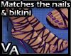 Purple Strap Stilettos