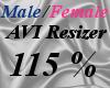 Male/Fem AVI Scaler 115%