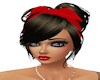 Red Ribbon Updo