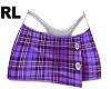 Skirt Plaid Purple