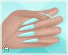 A| Long Blue Nails