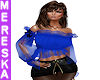 Blue Sheer Gypsy Top